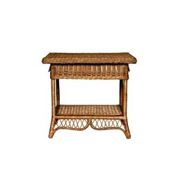Wicker Side Table Tan