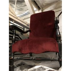 Red Velvet Mahogony Chairs
