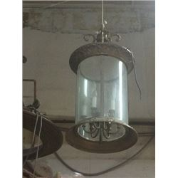 Glass & Metal Tube Chandelier