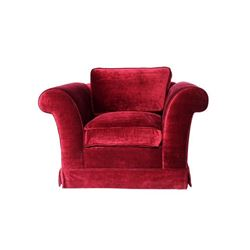 Burgundy Club Chair