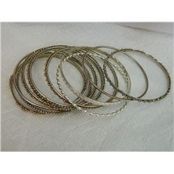 ASSORTED BANGLE BRACELETS - 11TTL