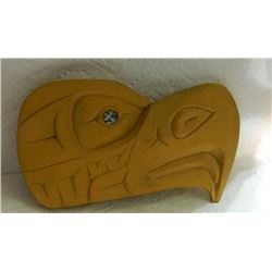 FIRST NATIONS CARVING - ABALONE EYE