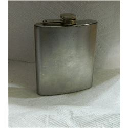 FLASK - STAINLESS STEEL - 7 OZ - - sorry it is empty :(