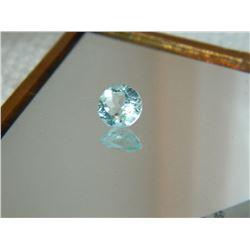 GEMSTONE - BABY BLUE TOPAZ - ROUND FACETED - 6.9 X 4.0mm