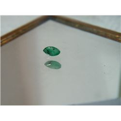 GEMSTONE - EMERALD - MARQUIS FACETED - 6.4 X 3.1 X 2.1mm