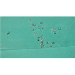 GEMSTONES - GENUINE DIAMOND - IRREGULAR CUT LOOSE GEMS - 20 PER LOT