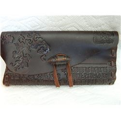 LADIES LEATHER HAND TOOLED WALLET