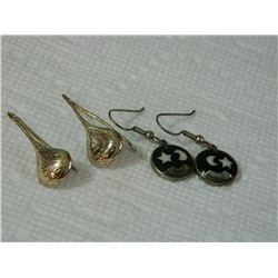 EARRINGS - SILVER - ASSORTED - 2 TTL - some may be as-is