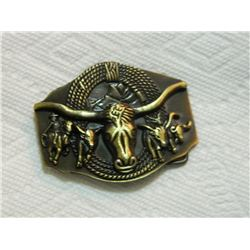 NEW BELT BUCKLE - LONG HORN STEER