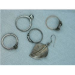 ASSORTED SCRAPE JEWELRY - SILVER & 1 10K GOLD FILLED SILVER