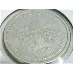 CASINO CHIP - DELTA SALOON - $` - VIRGINA CITY NEVADA - 1979
