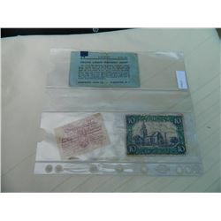 PAPER NOTE - GENUINE GERMANY EMERGENCY MONEY - 3 PC TTL