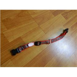 DOG COLLAR - RED WITH BONES