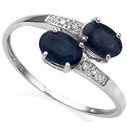 **** FEATURE ITEM **** RING - 1.18 CARAT SAPPHIRE & DIAMOND IN 10KT SOLID GOLD SETTING - INCLUDES CE