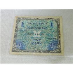 PEPER NOTE - ALLIIERTE MILITÄRBEHÖRDE - DEUTSCHLAND - EINE MARK - 1944