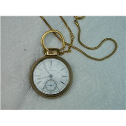 **** FEATURE ITEM **** FROM ESTATE - POCKET WATCH - VINTAGE - DERBY ROLLED CASE STURDY- MADE IN CANA