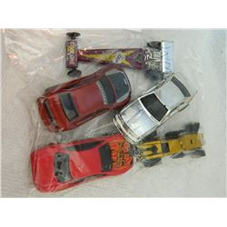 BAG OF METAL TOYS - VINTAGE HOTWHEELS  MORE - 5 TTL