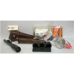 HOLSTER AND SCOPE LOT