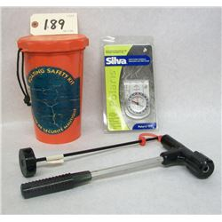 BOAT KIT AND COMPASS LOT