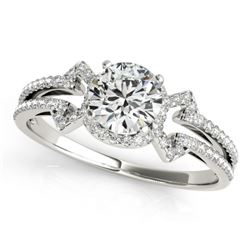 0.9 CTW Certified VS/SI Diamond Solitaire Ring 18K White Gold - REF-152W8F - 27966