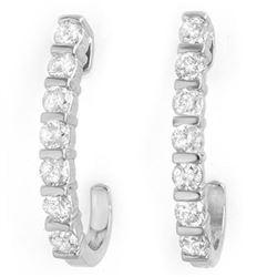 0.75 CTW Certified VS/SI Diamond Earrings 18K White Gold - REF-78H5A - 14000