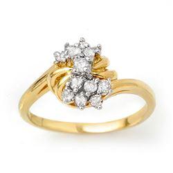 0.25 CTW Certified VS/SI Diamond Ring 10K Yellow Gold - REF-23M3H - 13771