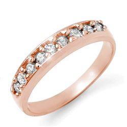 0.25 CTW Certified VS/SI Diamond Ring 18K Rose Gold - REF-42T2M - 14177