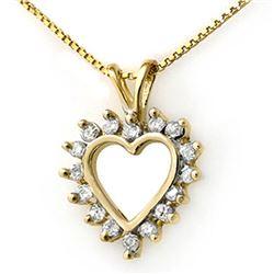 0.50 CTW Certified VS/SI Diamond Pendant 14K Yellow Gold - REF-39K3W - 13311