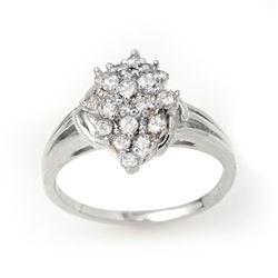0.25 CTW Certified VS/SI Diamond Ring 14K White Gold - REF-32M2H - 14352
