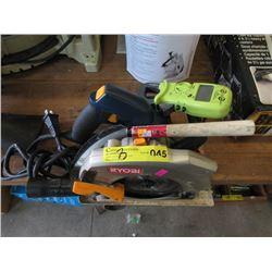 Ryobi Skill Saw, Prune Saw & Electrical Tester