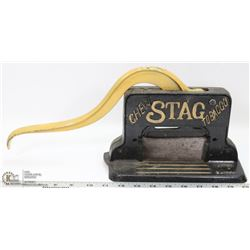 ANTIQUE STAG CHEWING TOBACCO CUTTER MADE BY TC