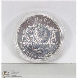 CANADIAN 2013 TROY OUNCE .999 SILVER COIN.
