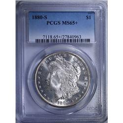 1880-S MORGAN DOLLAR, PCGS MS-65+