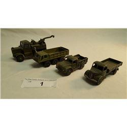 4 Army Dinky Toys
