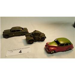 2 Dinky Cars & 1 Tank