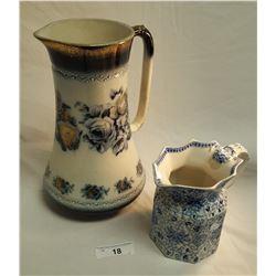Victorian Vase & Pitcher
