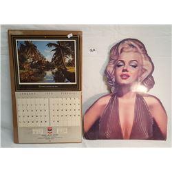 Chevron Calendar / Marilyn Monroe Cutout