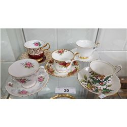 2 Shelf Lots of Cup & Saucers