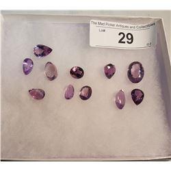 11 Amethyst Stones