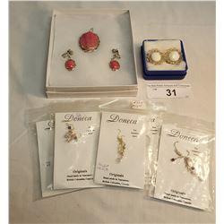 6 Sets of Assorted Custume Jewelry/ Pendant w/ Earings