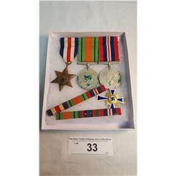 2nd World War Canadian Medals Plus 1938 Enamel German Medal