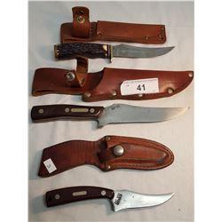 Schrade USA Sharp Finger/Schrade USA 15OT Hunter/ Schrade USA 498 Skinner
