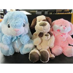 3 New super soft Stuffed Animals / med size