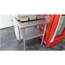"Small Stainless Steel Prep Table w/ Undershelf 29.5"" L X 24"" W X 35"" H"
