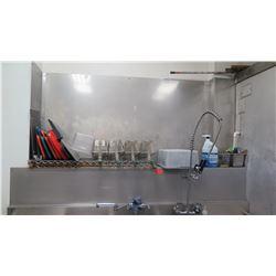 Stainless Steel Back Splash (back splash only, fryers, pans, trays not included)
