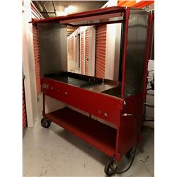 "La Taco Cart - Has 36"" Griddle & Prep Table uses Propane - Paid $3830"