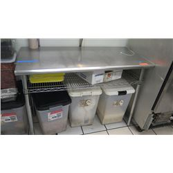 """Stainless Steel Prep Table with Wire Undershelf 49"""" L X 24"""" X 35.5"""" H"""