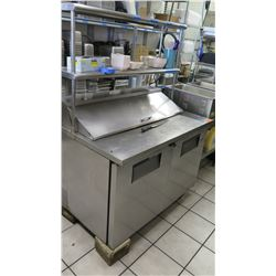 """True 2 Door Cooler and Cold Prep Station with Shelf 48"""" L X 30"""" W"""