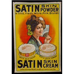 "Vintage ""Satin Skin Powder/Cream"" General Store Poster"
