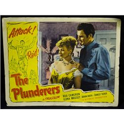 "Rare-Vintage 1952 Lobby Card ""The Plunderers"""